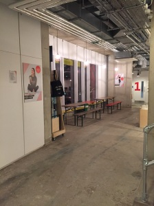 The waiting area inside Frame's Kings Cross venue